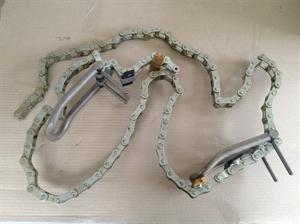 Golyóelevátor komplett lánc, 3 kanállal, teke képe