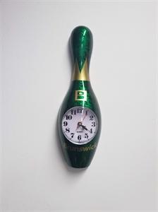 Bowling bábu falióra 30 cm-es zöld képe